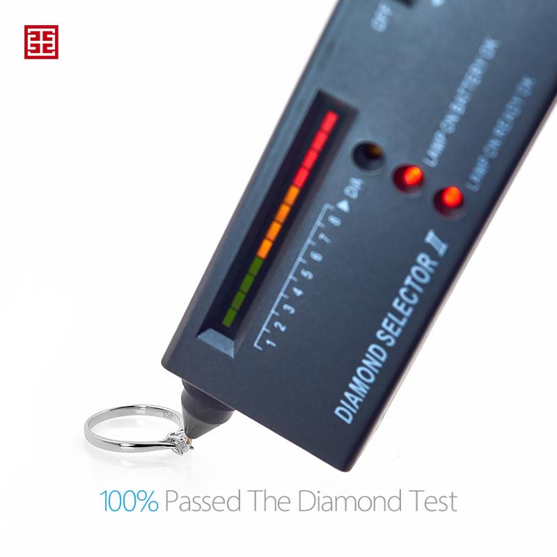 GIGAJEWE 0.3ct 4mm Round Cut EF VVS1 Moissanite 925 Silver Ring Diamond Test Passed Fashion Claw Setting Women Girlfriend Gift