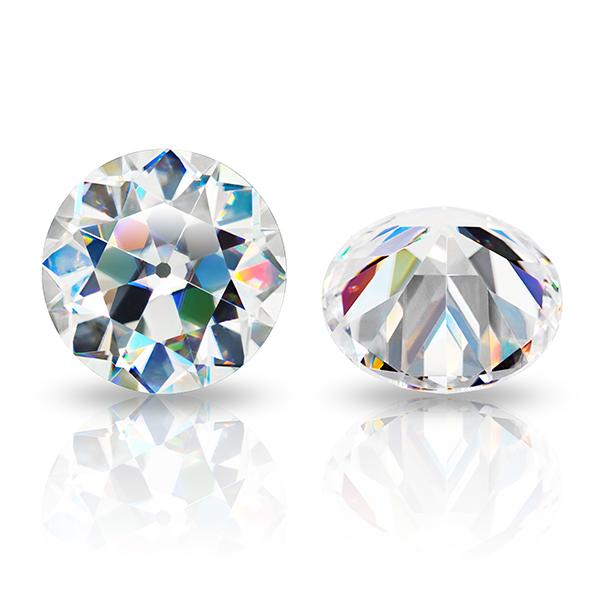 GIGAJEWE Hand-Cutting Old European Cut Round White D VVS1 Moissanite Loose Diamond Test Passed Gemstone For Jewelry Making