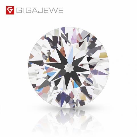 GIGAJEWE Polierte Diamanten Loose Lab Grown Round Brilliant Cut Man Made Diamond Diamond CVD Weiße Farbe