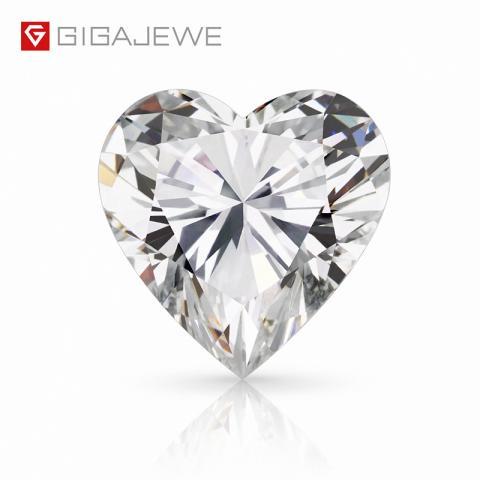 GIGAJEWE Loose Diamond CVD white color Heart cut With IGI certificate lab grown round brilliant cut man made Diamond