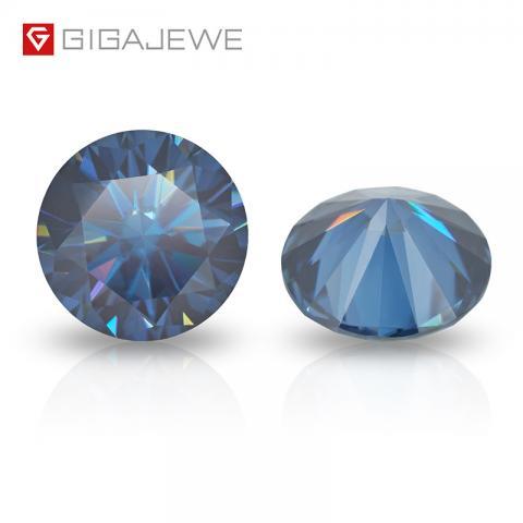 loose moissante gemstone Synthetic diamonds price per carat Blue Color Round Cut Diamond For Jewelry