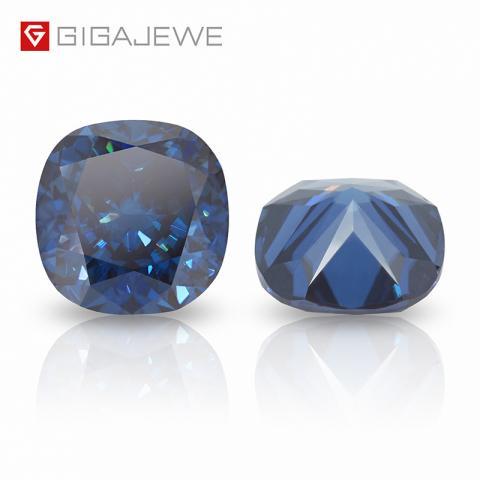 Synthetic Diamond price per carat color 2.2ct Loose Moissanite gemstone Cushion Moissanite Blue
