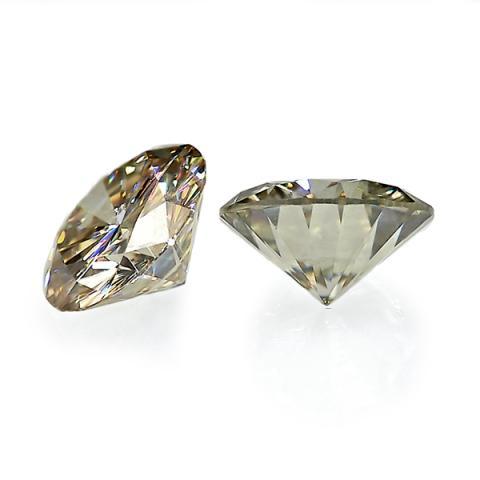 GIGAJEWE 0.2-0.4ct 3.5-4.5mm Champagne VVS1 Round Hand Cutting Moissanite Loose Stone Diamond Test Passed Lab Gem DIY For Making