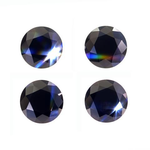 GIGAJEWE Moissanite Round Cut Black 3.5mm-6.0mm 0.8ct Loose Stone Lab Diamond DIY Gem Jewelry Making Fashion Woman Girl Gift