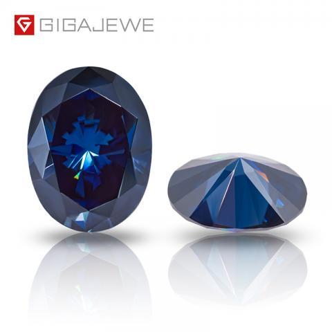 Oval Cut Diamond price per carat colors loose synthetic Moissanite Gemstone Deep Blue moissanite